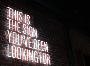 This is the sign you've been looking for -- the answers are within